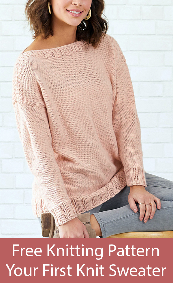 Free Knitting Pattern for Your First Knit Sweater