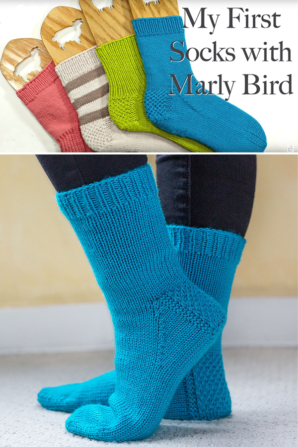 Free Knitting Pattern and Videos for Easy My First Socks