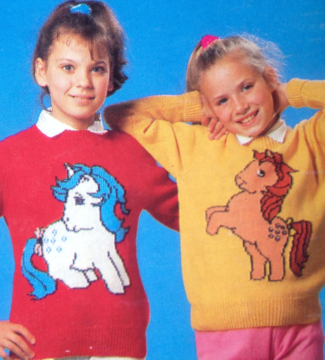 Knitting Patterns for My Little Pony Sweaters