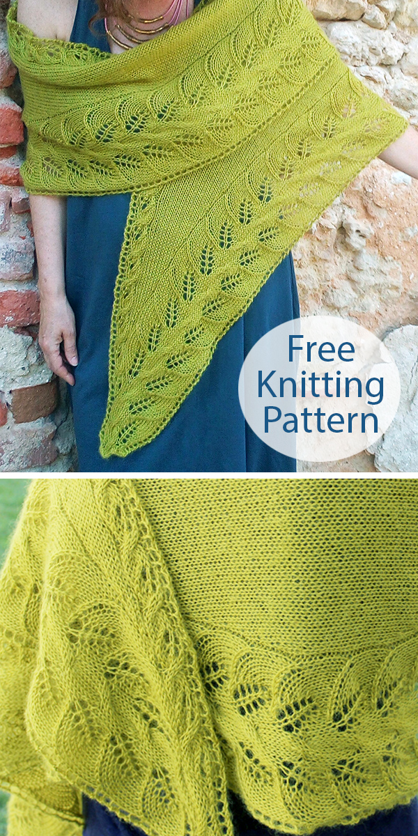 Free Knitting Pattern for My Precious Shawl