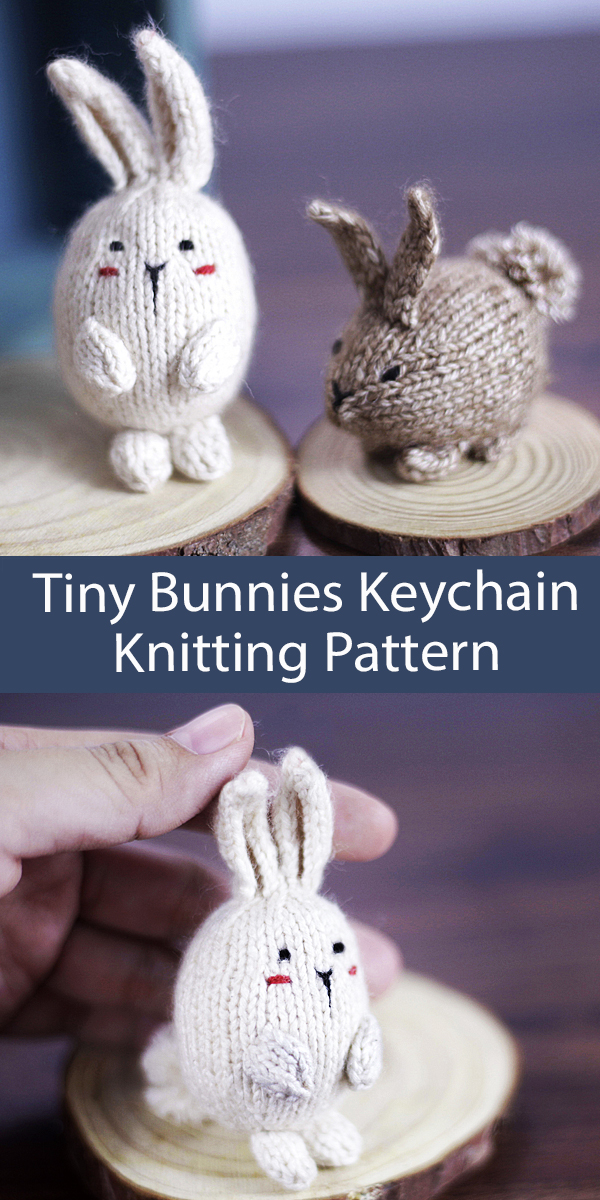 Bunny Toy Knitting Pattern My Tiny Bunnies Keychain