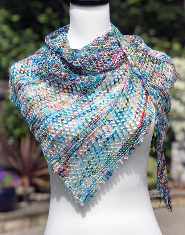 Knitting Pattern for My Wavelength One Skein Shawl
