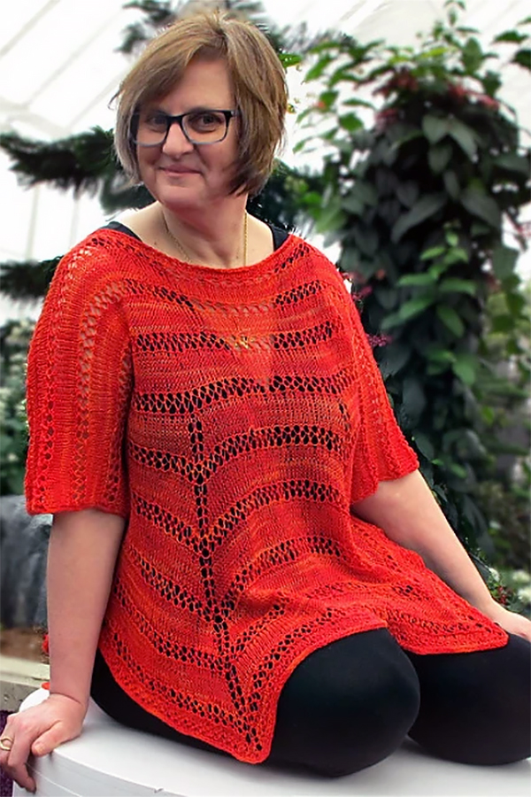 Free Knitting Pattern for Myliu  Top