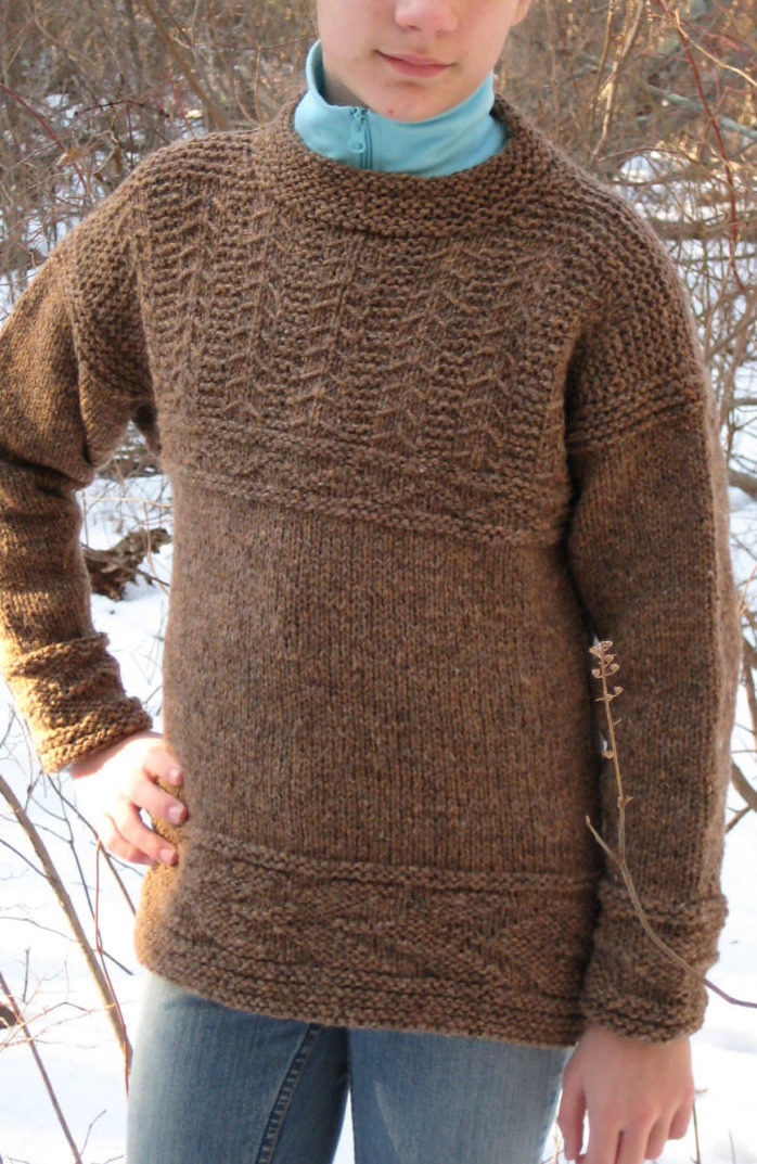 Free Knitting Pattern for Guernsey Sweater