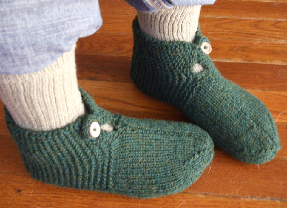 Free Knitting Pattern for Easy Mystery Slippers