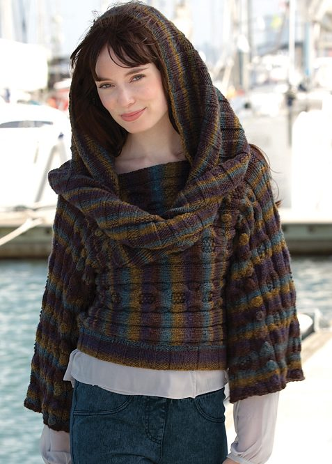 Free Knitting Pattern for Nadine's Pullover and Hood