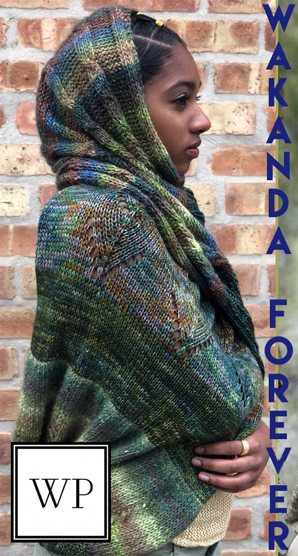 Free Knitting Pattern for Nakia's Infinity Scarf
