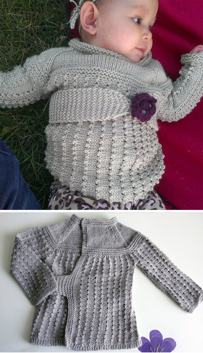 4816f1e21 Baby Wrap Sweater Knitting Patterns - In the Loop Knitting