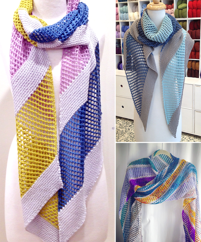 Free Knitting Pattern for Easy Naname Scarf