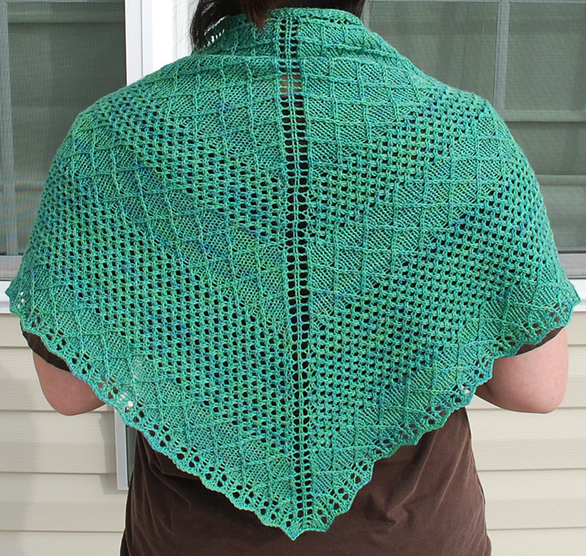 Free Knitting Pattern for Nancy and Judy Shawl