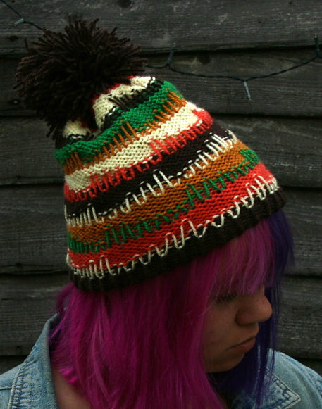 Free Knitting Pattern for Nardole Hat from The Eaters of Light