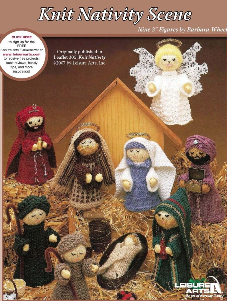 Knitting Pattern for Nativity Scene
