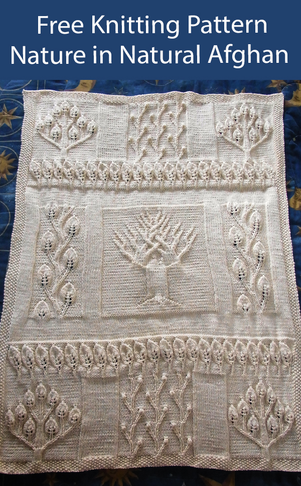 Free Blanket Knitting Pattern Nature in Natural Afghan