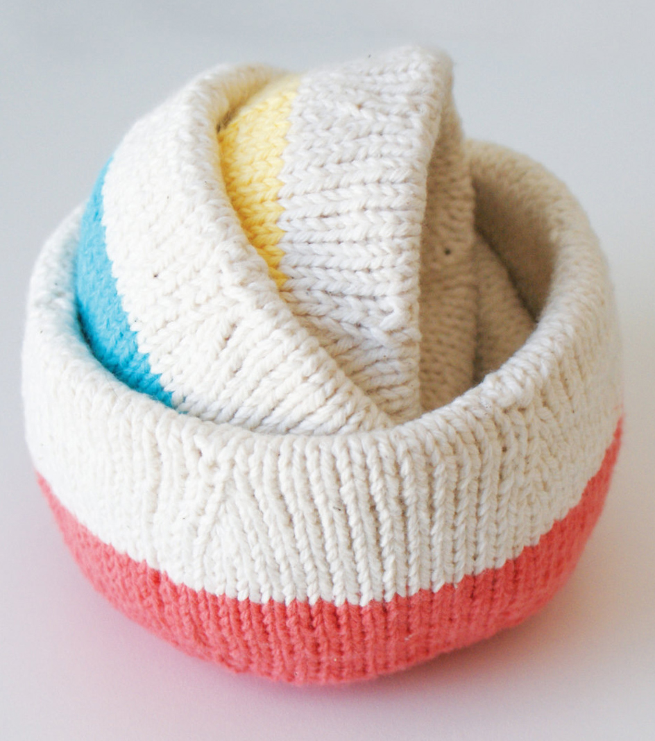 Knitting Pattern for Nesting Bowls
