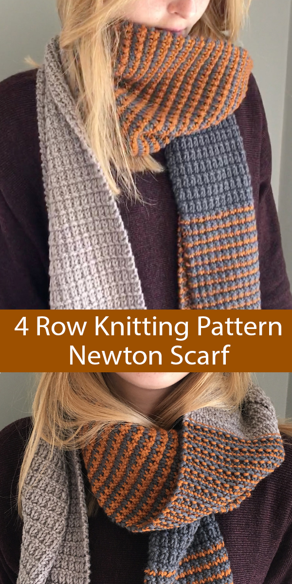 Knitting Pattern for 4 Row Repeat Newton Scarf