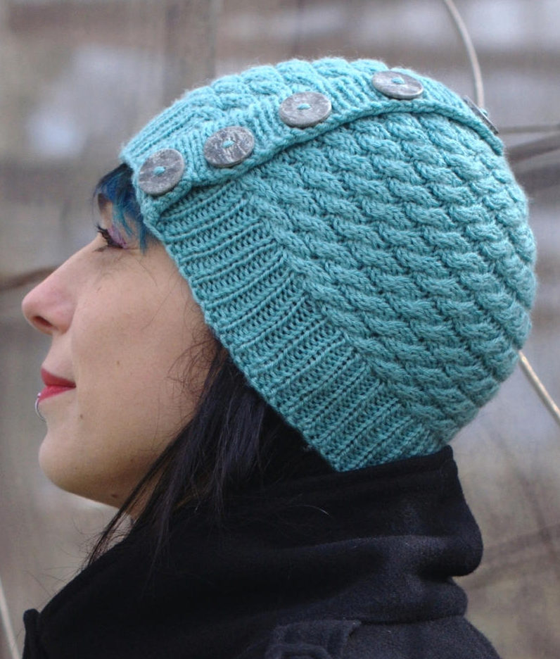 Knitting Pattern for Niamh Hat Knit Flat