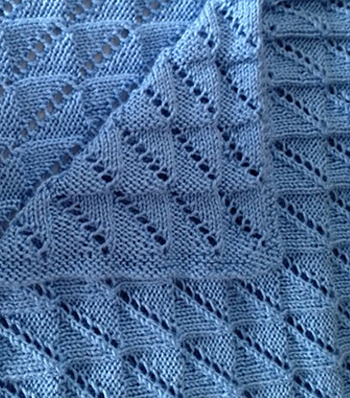 Free Knitting Pattern for Easy Reversible Nickerchen Baby Blanket