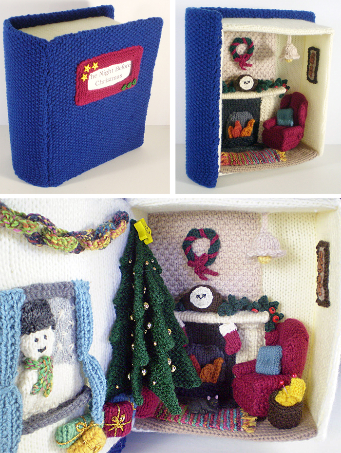 Free Knitting Pattern for Night Before Christmas Diorama