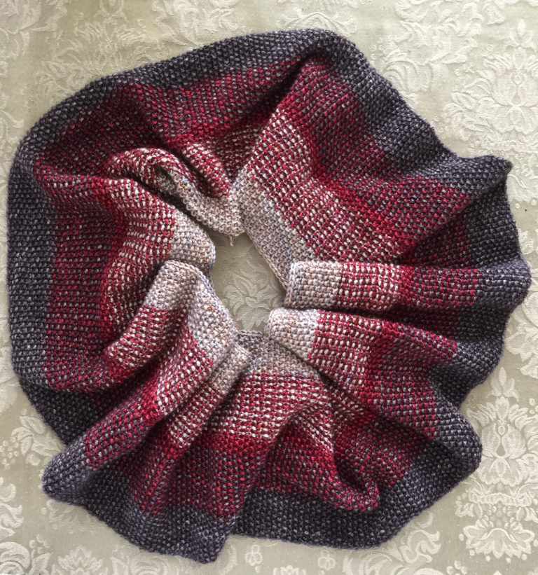 Free Knitting Pattern for Nightfall Infinity Scarf Cowl