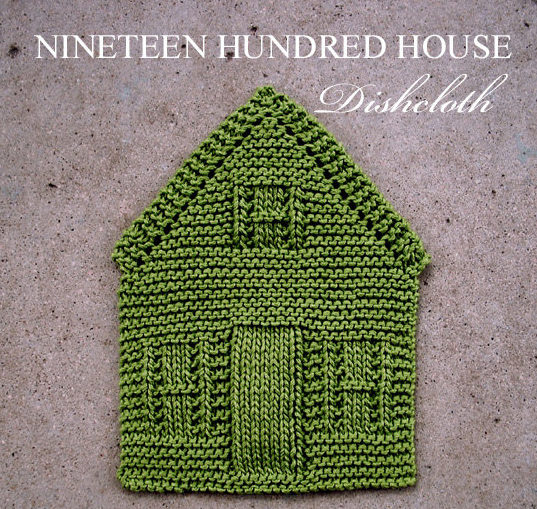 Knitting Pattern for Nineteen Hundred House Dish Cloth