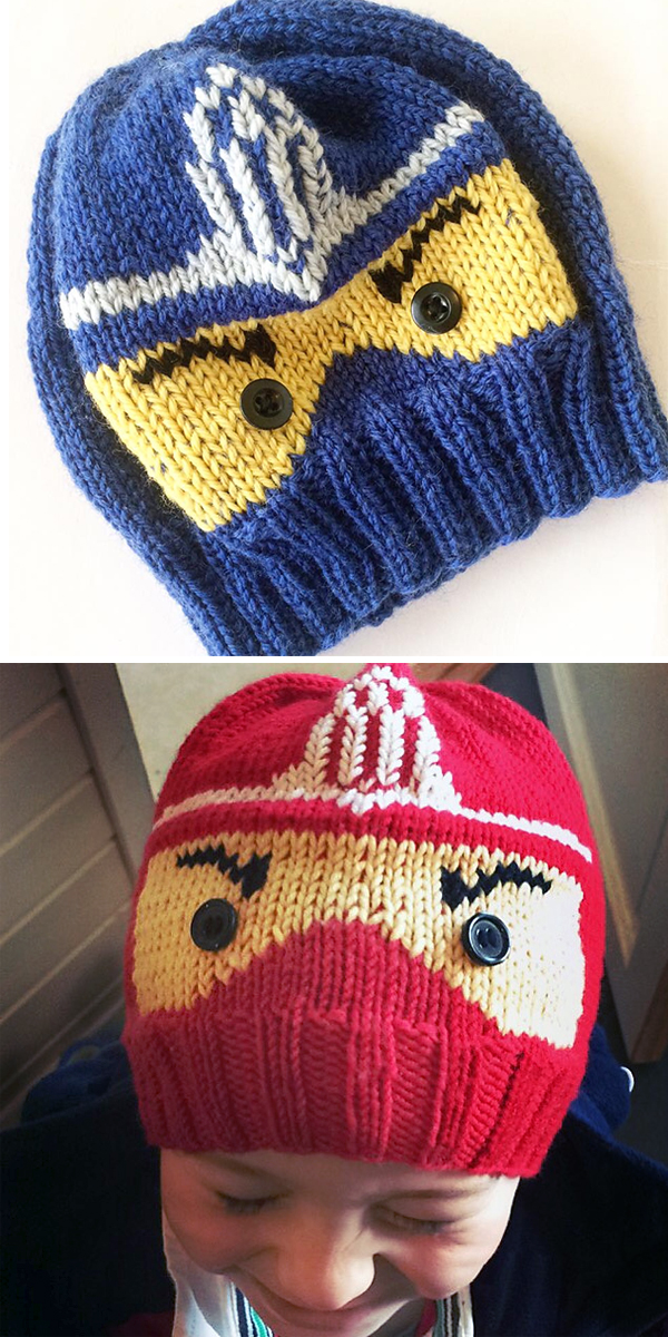 Free Knitting Pattern for Ninjago Hat
