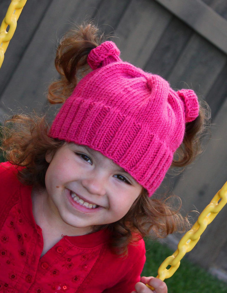 Free Knitting Pattern for Nippertail Pigtail Hat