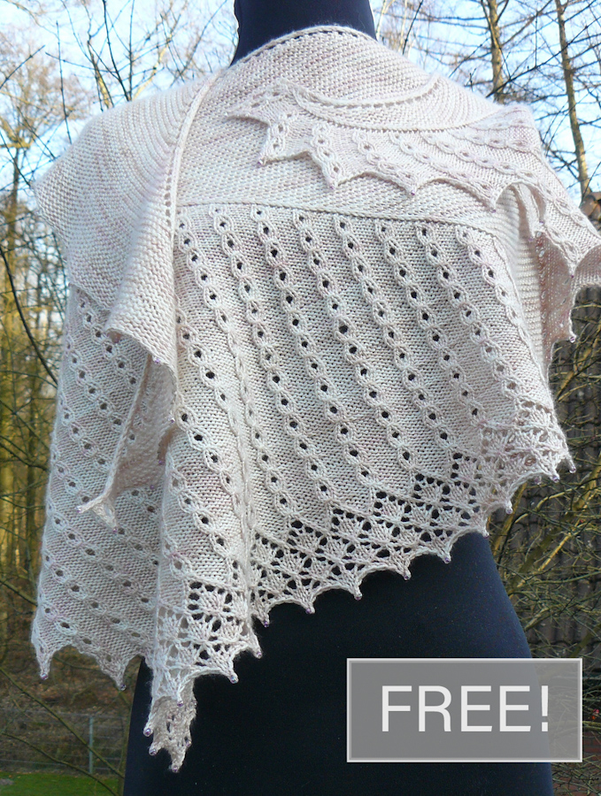 Free Knitting Pattern for No Lo Sé Shawl