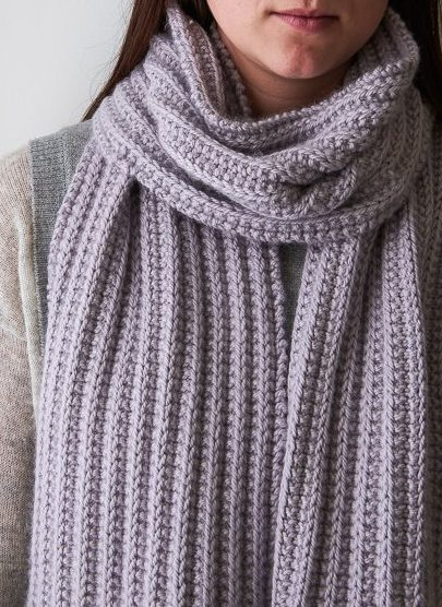 03e6a18bf Free Knitting Pattern for 2 Row Repeat No Purl Rib Scarf