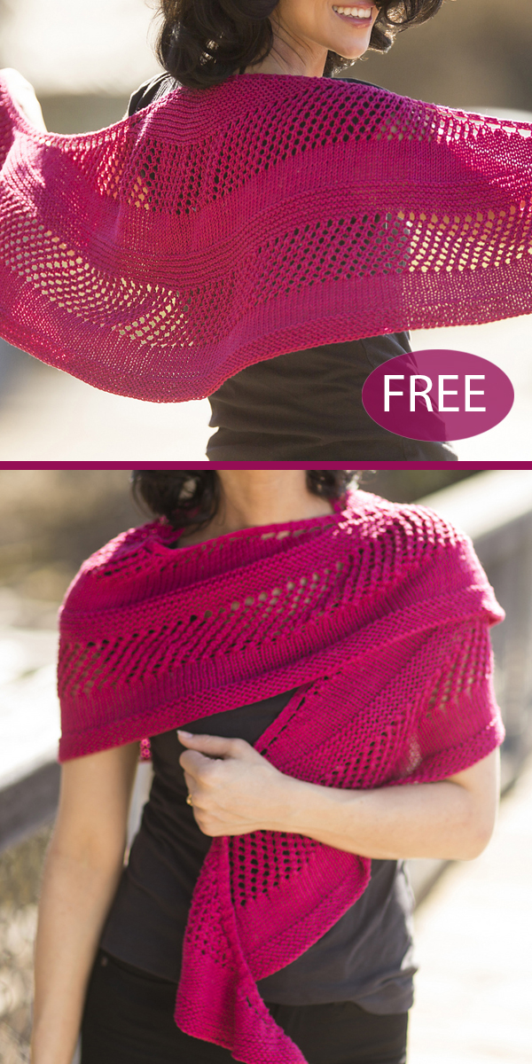 Free Knitting Pattern for Easy Noble Crescent Shawl