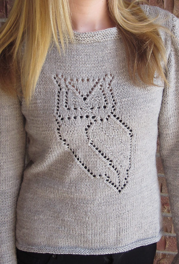 Knitting Pattern for Nocturnal Pullover