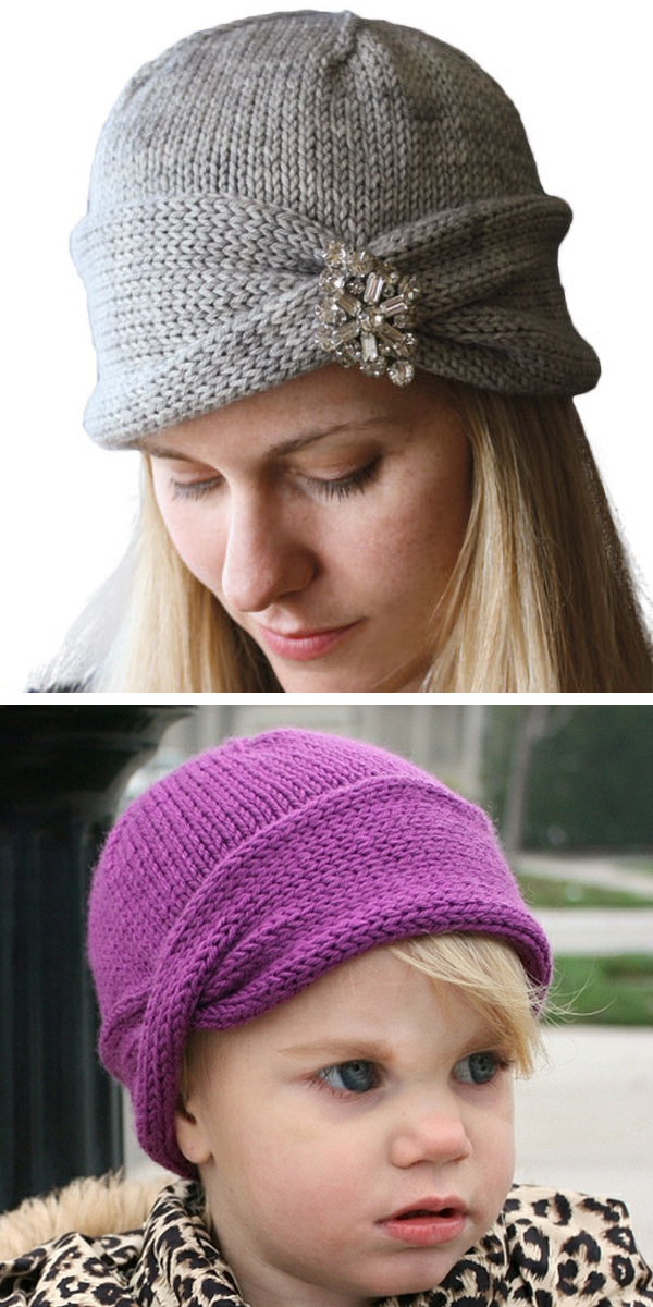 Knitting Pattern for One Skein Nola Cloche
