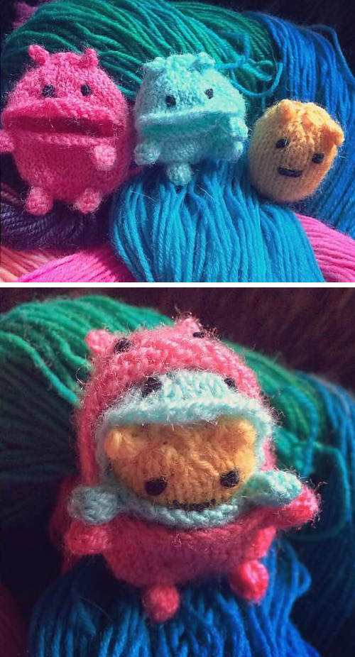 Free Knitting Pattern for Nom Nom Monsters