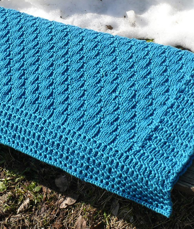 Free Knitting Pattern for Baby Blanket Nomad