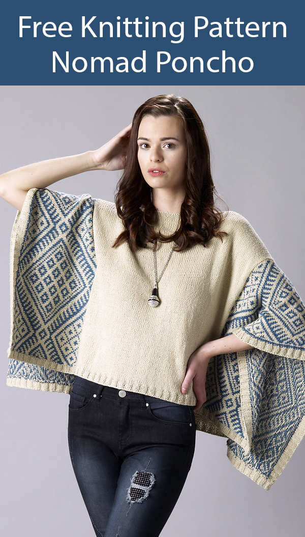 Free Knitting Pattern for Nomad Wrap Poncho