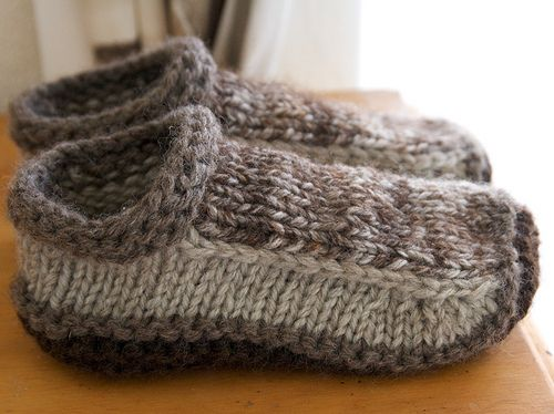 Free knitting pattern for Non-Felted Slippers and more slipper knitting patterns