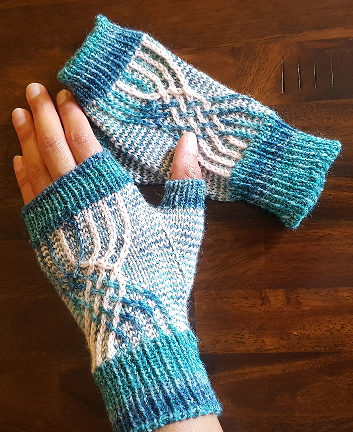Free Knitting Pattern for Non-Hyphenated Mitts