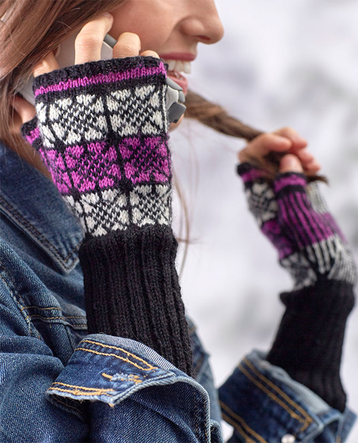 Free Knitting Pattern for Nordic Pop Mitts