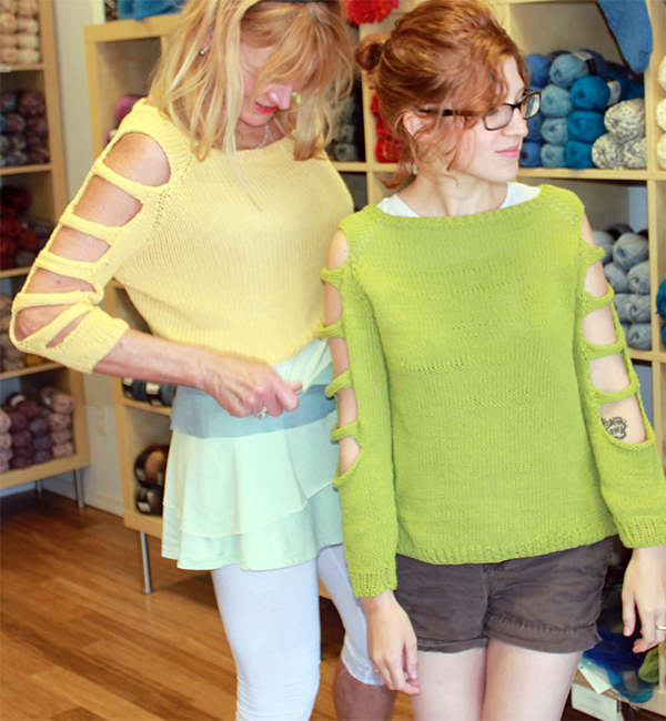 Free Knitting Pattern for Pullover with Sleeve Cutouts