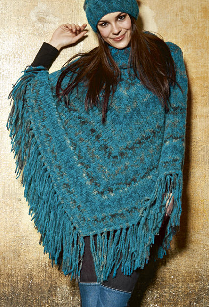 Free Knitting Pattern for Nordico Poncho