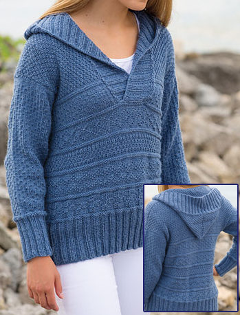 Knitting Pattern for Nordkapp Hoodie