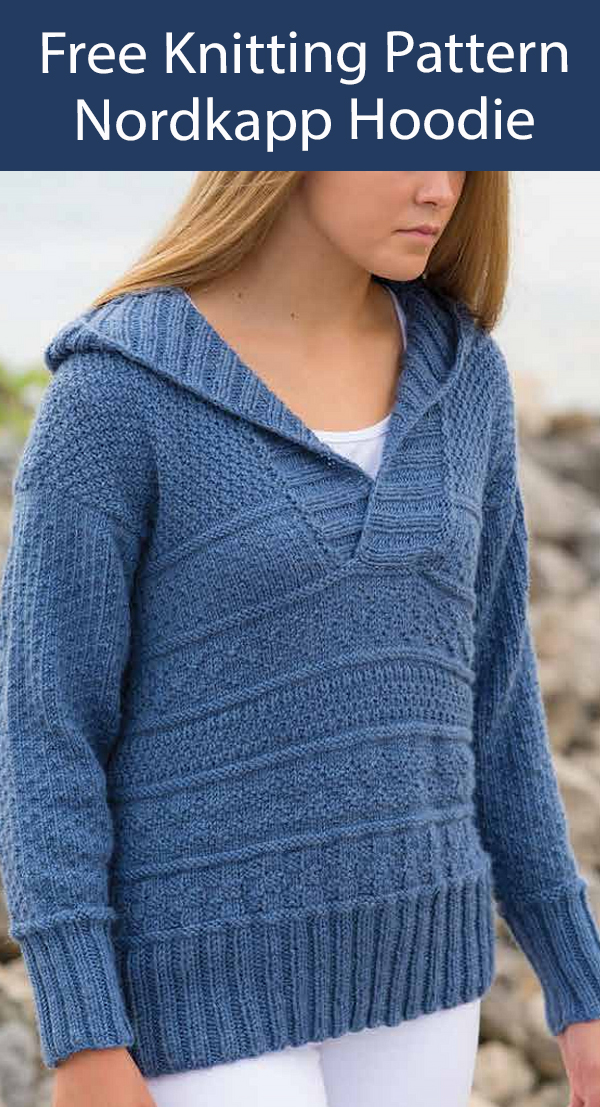 Free Sweater Knitting Pattern Nordkapp Hoodie Jumper