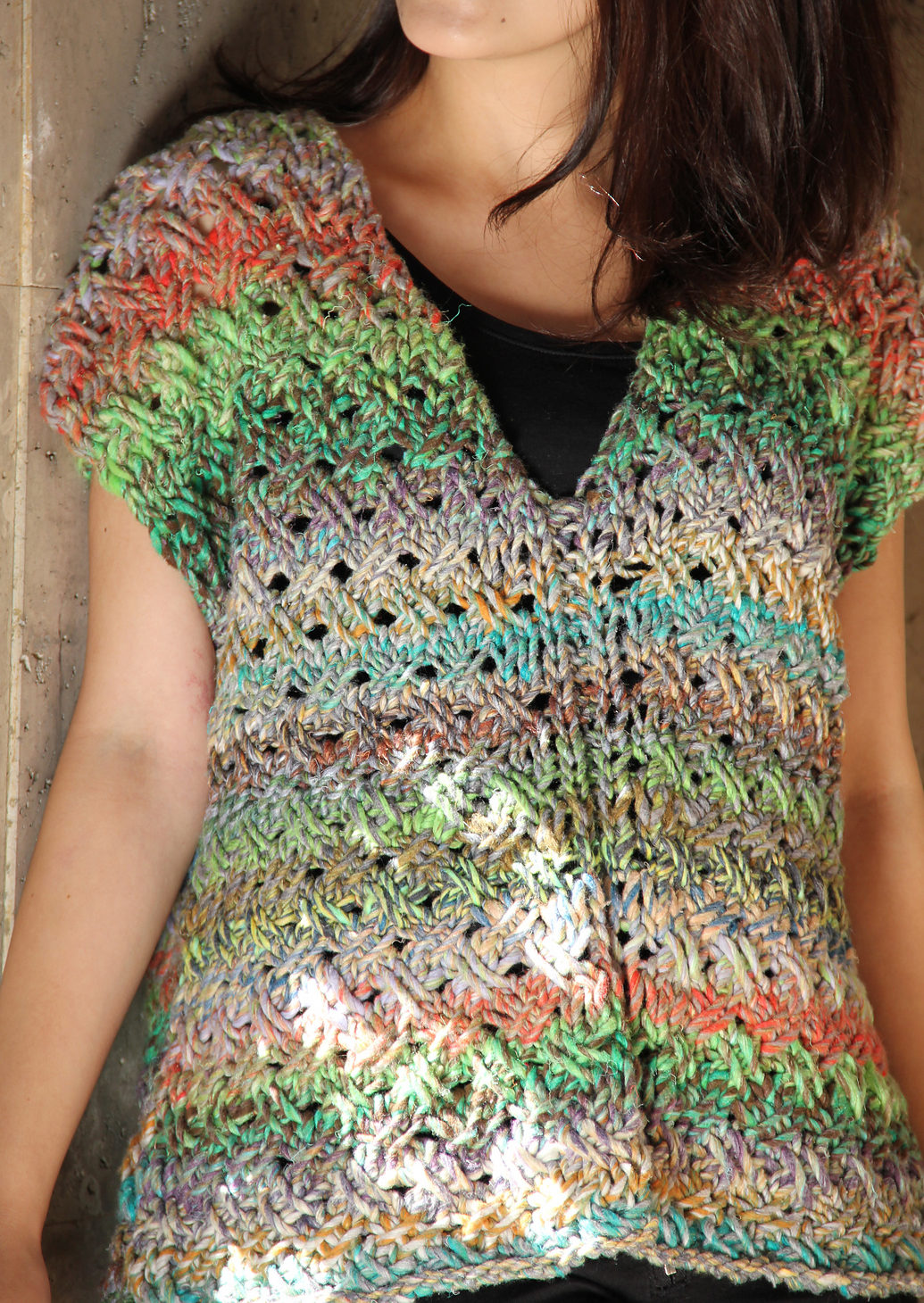 Knitting Pattern for Cross Stitch Top
