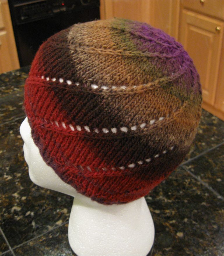 Free knitting pattern for Noro One Skein Spiral Hat