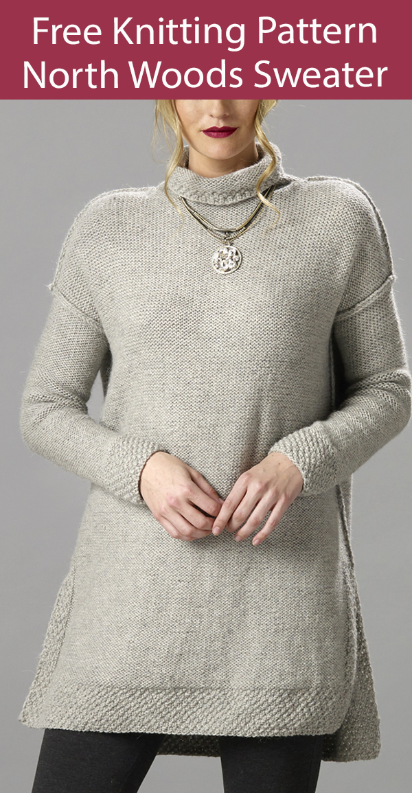 Free Sweater Knitting Pattern North Woods Pullover Tunic