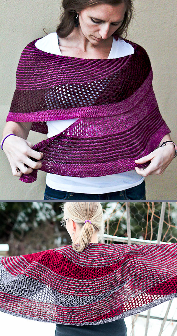 Knitting Pattern for Reversible Nostalgia Shawl