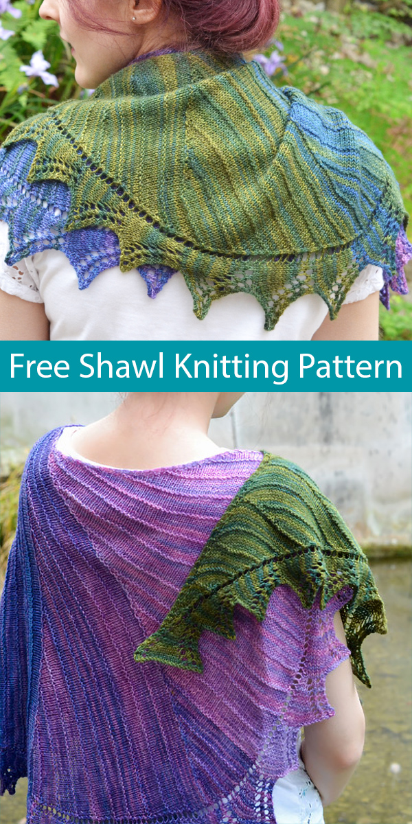 Free Knitting Pattern for Now in a Minute Shawl