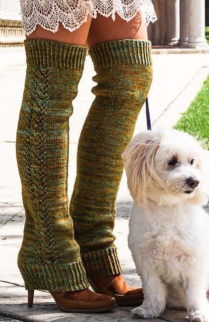Free Knitting Pattern for Nozky Legwarmers