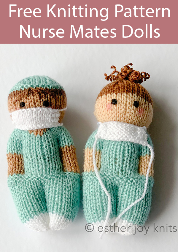 Free Knitting Pattern for Nurse Mates Dolls