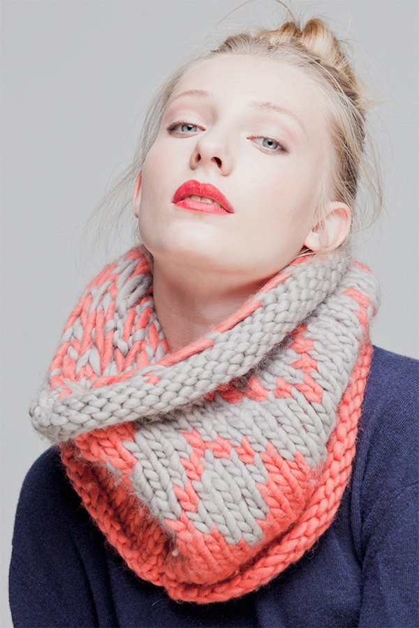 Free Knitting Pattern for Quick Nympheas Cowl
