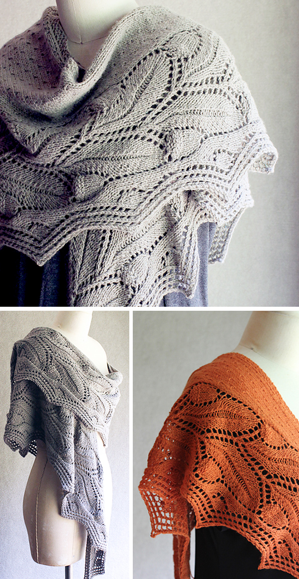 Knitting Pattern for Oakberry Shawl